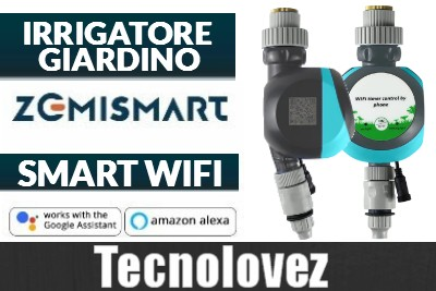 Irrigatore Da Giardino Smart WIFI Zemismart - Con comando Vocale e Gestione Remota da App Tuya