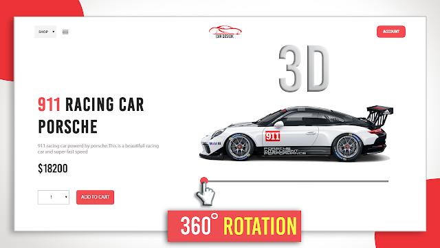 3d website design HTML CSS