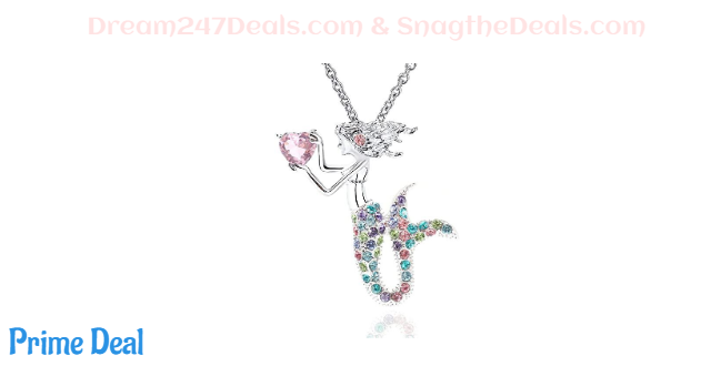 40% OFF Mermaid Necklace Austrian Crystal Magic Pendant Necklace for Women Girls