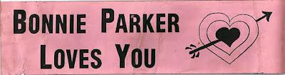 Bonnie Parker bumper sticker