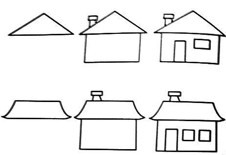 رسم بيت بالرصاص