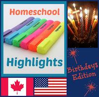 Homeschool Highlights - Birthdays Edition on Homeschool Coffee Break @ kympossibleblog.blogspot.com