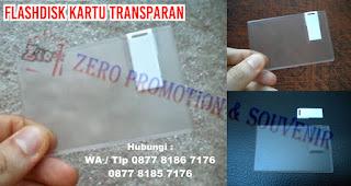 Flashdisk kartu transparan