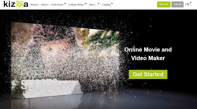 Kizoa free online video editor