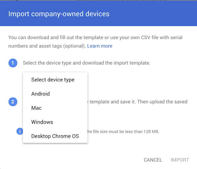 View company-owned desktop and mobile devices in one place
