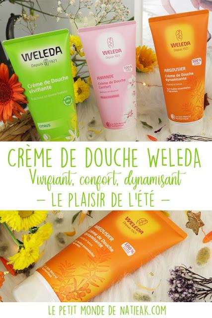 Avis sur les crèmes de douche Weleda