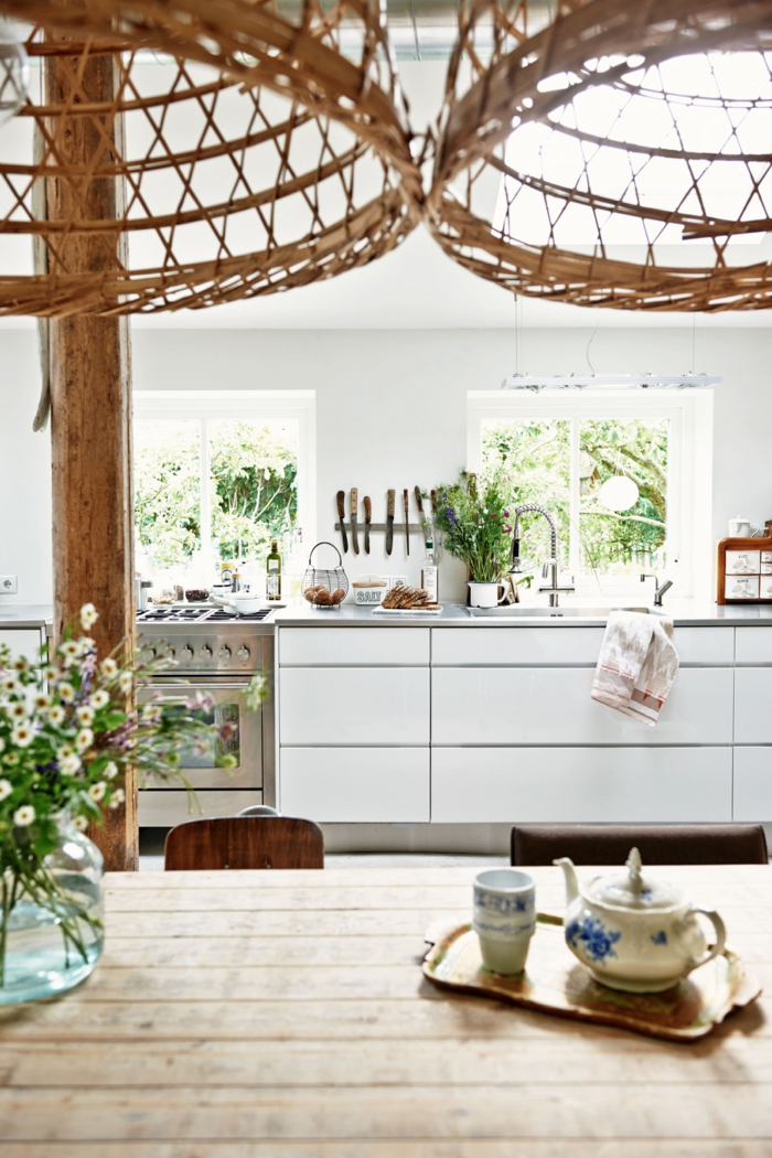 open kitchen in rebuilt farm in Workum, The Netherlands - photo for vtwonen
