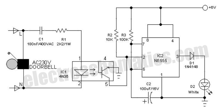 Wiring Schematic Diagram  6volt Doorbell Light Circuit