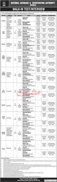 National Database and Registration Authority jobs in Pakistan 2021-latest today jobs