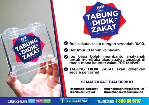 Kempen Tabung Didik Zakat oleh PPZ-MAIWP Pupuk Kesedaran Zakat Seawal Usia