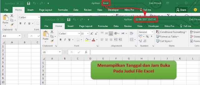 Cara Menampilkan Tanggal dan Jam Pada Judul Header Excel