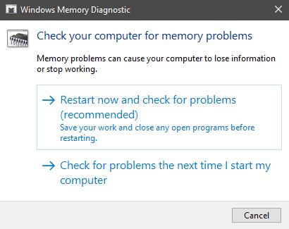 Cara deteksi keruskan RAM