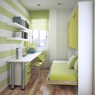 Habitación juvenil en espacio pequeño