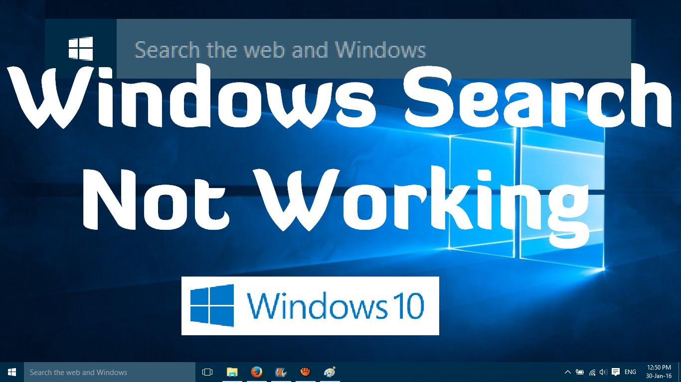 How to Fix Search not working in Windows 10 - Tech Ugly