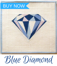 blue diamond mini quilt pattern