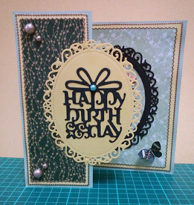 Yellow and green handmade birthday card