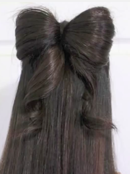 Half Up And Half Down Hair Bow Hairstyle Tutorial For Long