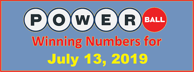 PowerBall Winning Numbers for Saturday, July 13, 2019