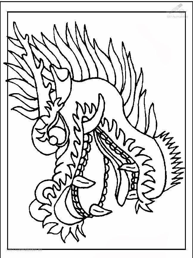 malvorlagen drachen