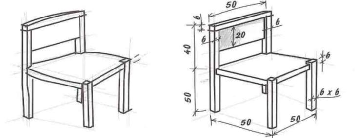 Desarrollo de planos y diagramas bosquejo y croquis for Silla para dibujar