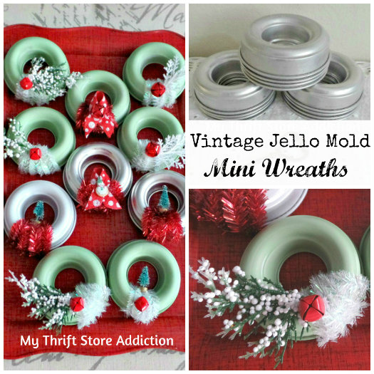The 15 Minute Fix: Repurposed Vintage Jello Mold Beehive mythriftstoreaddiction.blogspot.com More vintage jello mold projects: Mini Wreaths