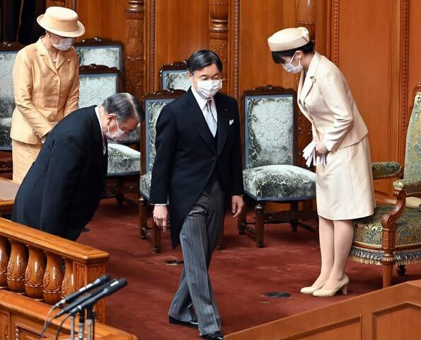 Emperor Naruhito, Empress Masako and Princess Mako attended the Japanese Parliament's 130th anniversary ceremony
