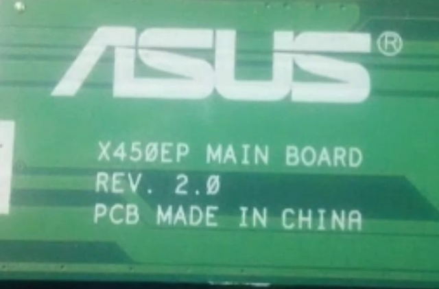 Asus X452E  mb X450EP Rev 2.0 Laptop Bios