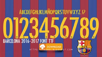 Barcelona 2016-2017 Font TTF