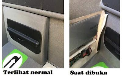 Kamera tersembunyi di dalam mesin ATM