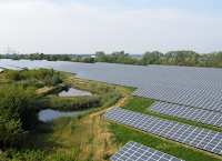 Solar panels in Germany (Credit: GEOSOL Gesellschaft für Solaranergie mbH at Wikimedia Commons) Click to Enlarge.