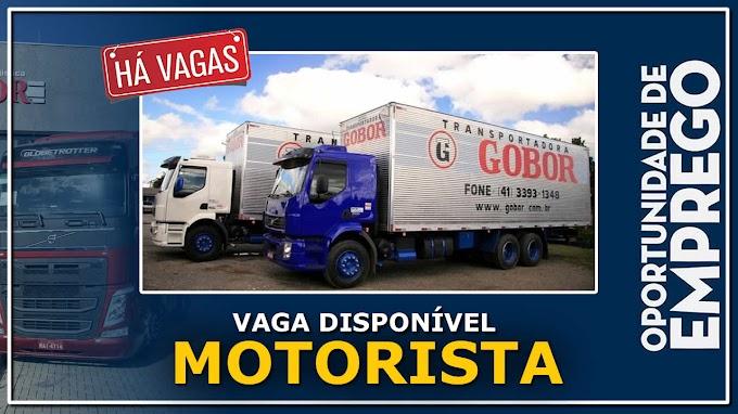 Transportadora Gobor abre vagas para Motorista Truck