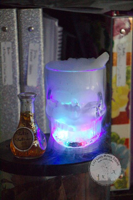 Add to an ominous feel with dry ice.