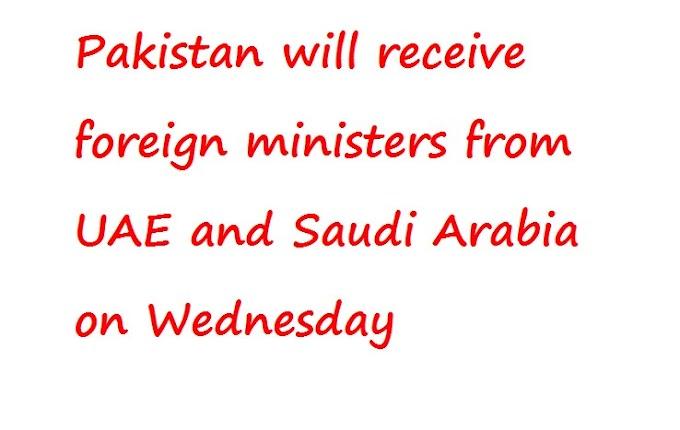 पाकिस्तान को बुधवार को संयुक्त अरब अमीरात और सऊदी अरब से विदेश मंत्री प्राप्त होंगे