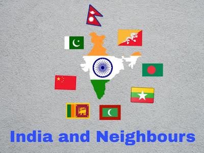 India,Pakistan, China, Bhutan, Nepal, Myanmar, Bangladesh, Sri Lanka, Maldives.