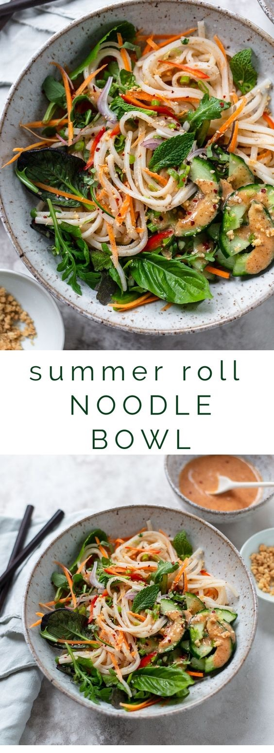 Fresh Summer Roll Noodle Bowl