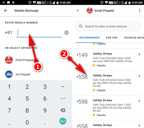 Google pay se mobile recharge kaise kare