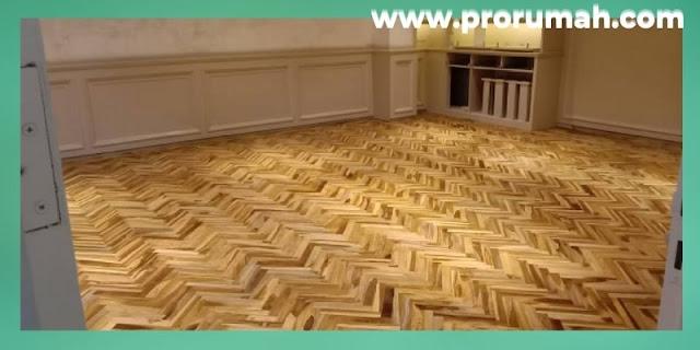 Jenis-jenis Furniture Untuk Hunian Modern - lantai kayu parket