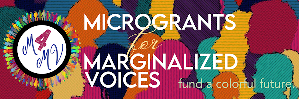 Microgrants for Marginalized Voices website header banner