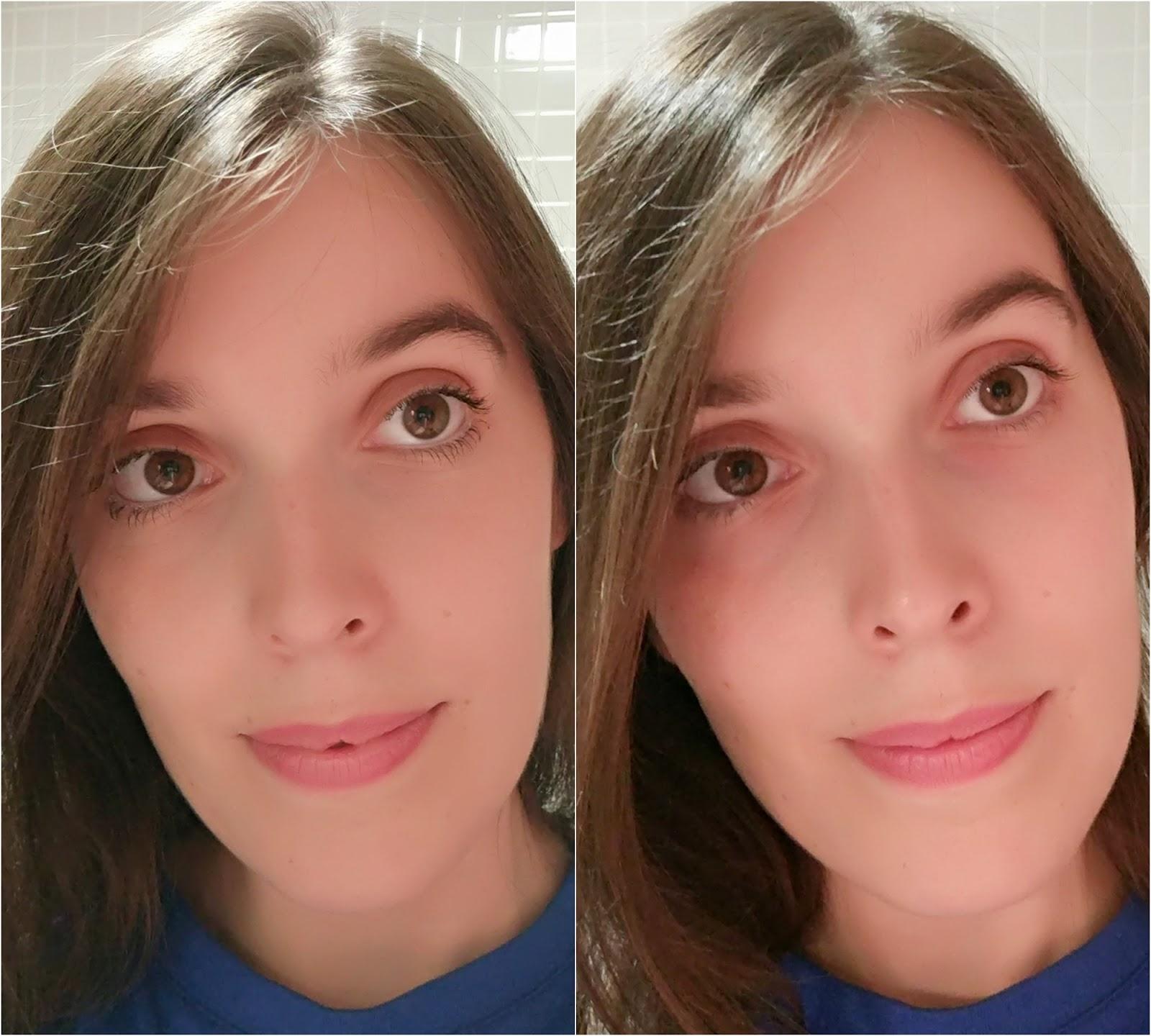Desmaquilhante p/ olhos sensíveis e com lentes de contacto, Cosmia - Antes e depois