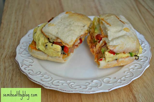 egg sandwich on ciabatta