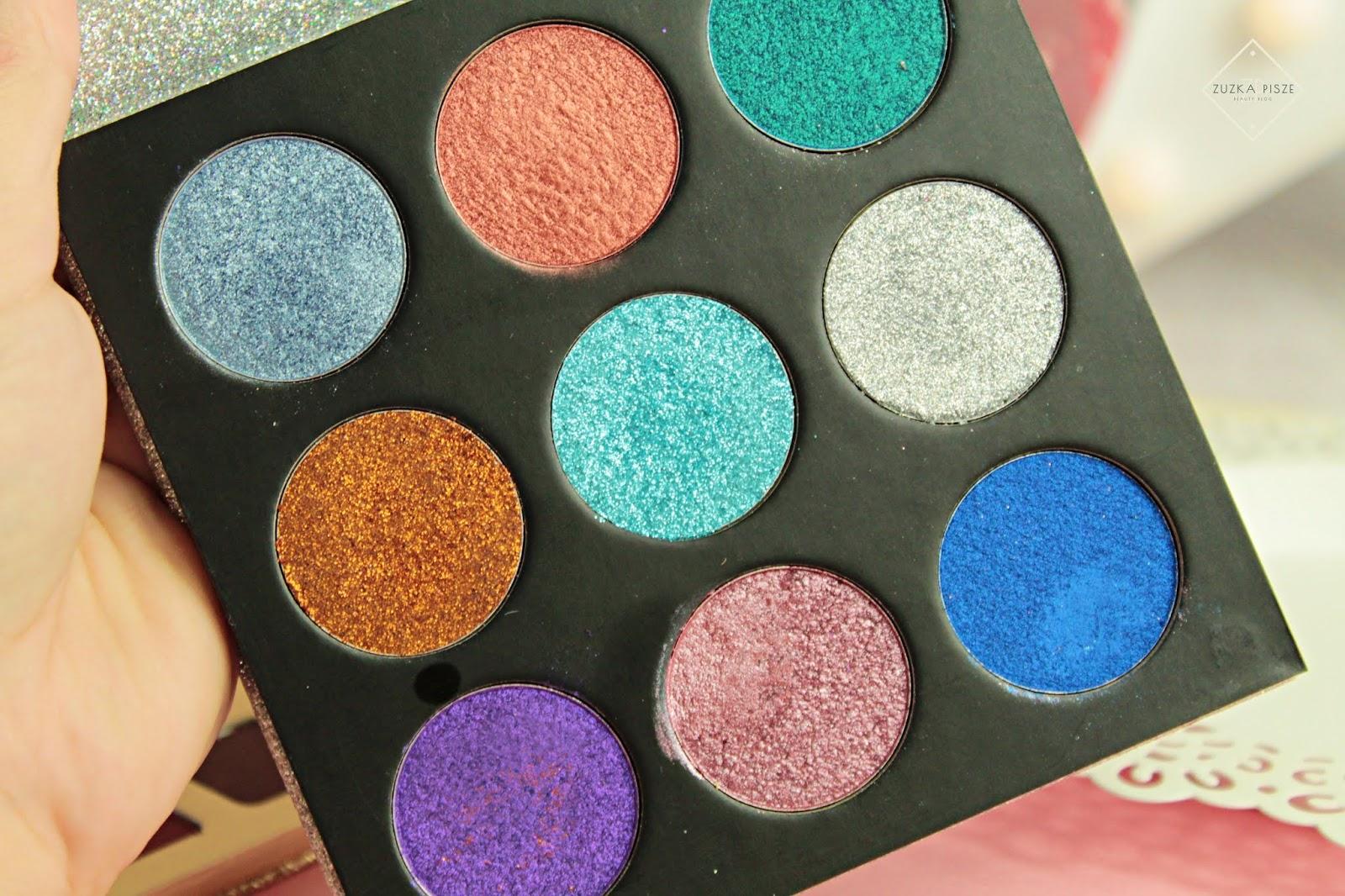 nowości makeup revolution paleta brokatów