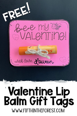 Pin image for Valentine Gift Tag Freebie