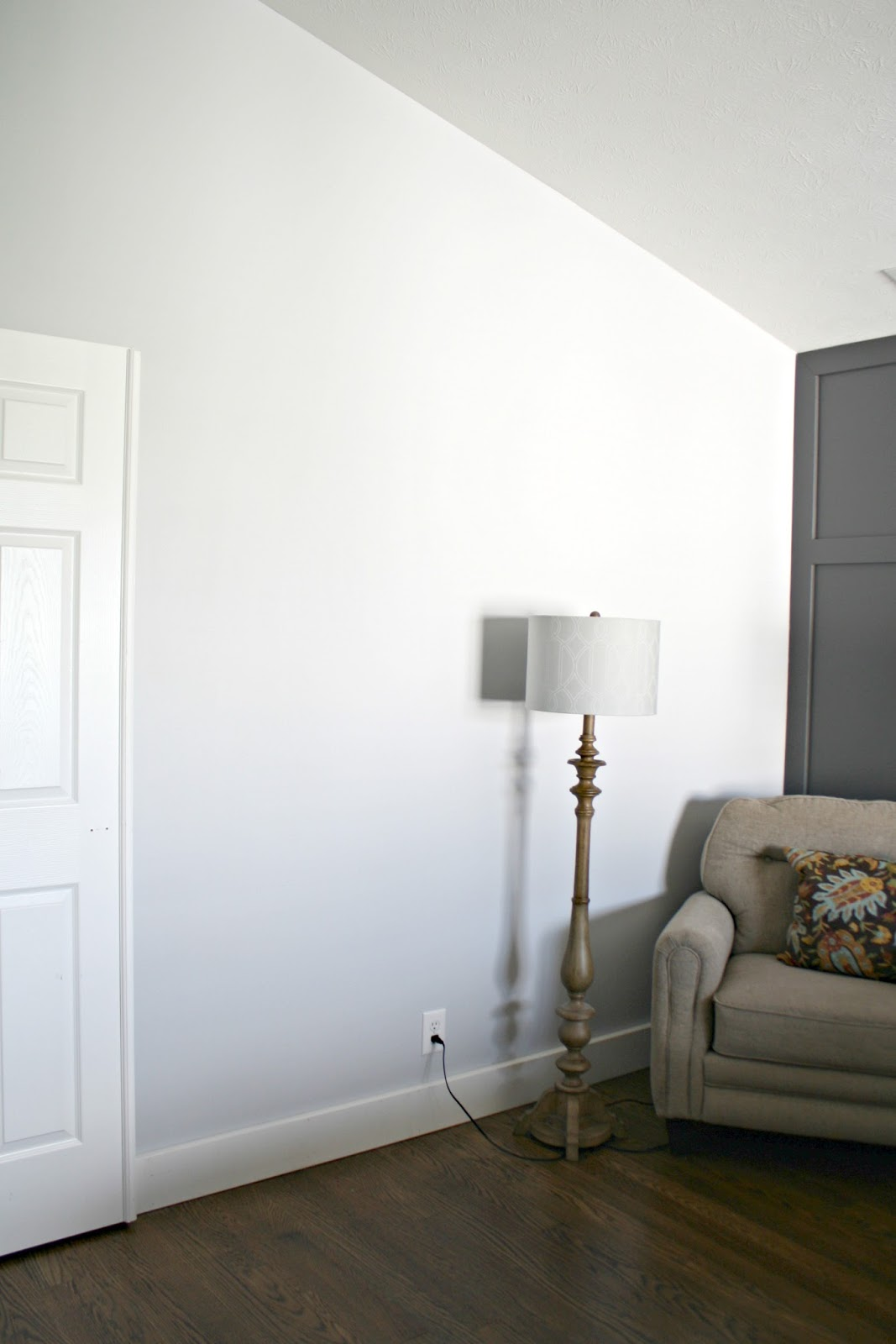 lovely light gray bedroom paint colors | One Wall at a Time (Master Bedroom) from Thrifty Decor Chick