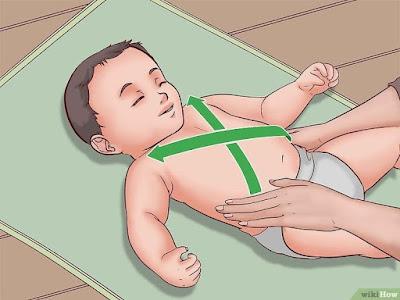 Pijat silang bayi milon air mancur