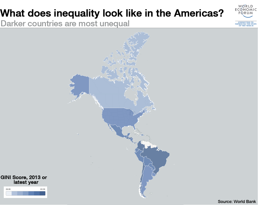 What does inequality look like around the World: Americas?