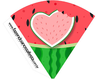 Watermelon Heart: Free Party Printables.