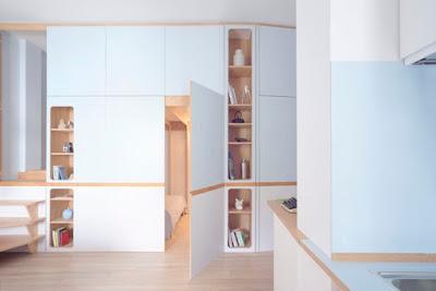 Apartamento pequeño inspirado en un camarote