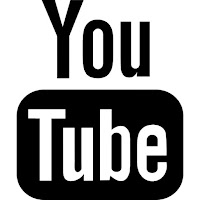 youtube black logo