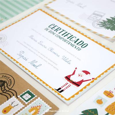 certificado bom comportamento natal