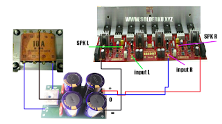 cara merakit power ampli 600 watt